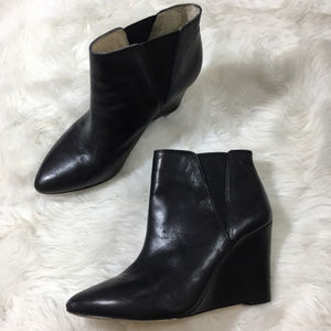 Black Wedge Booties Louise et Cie